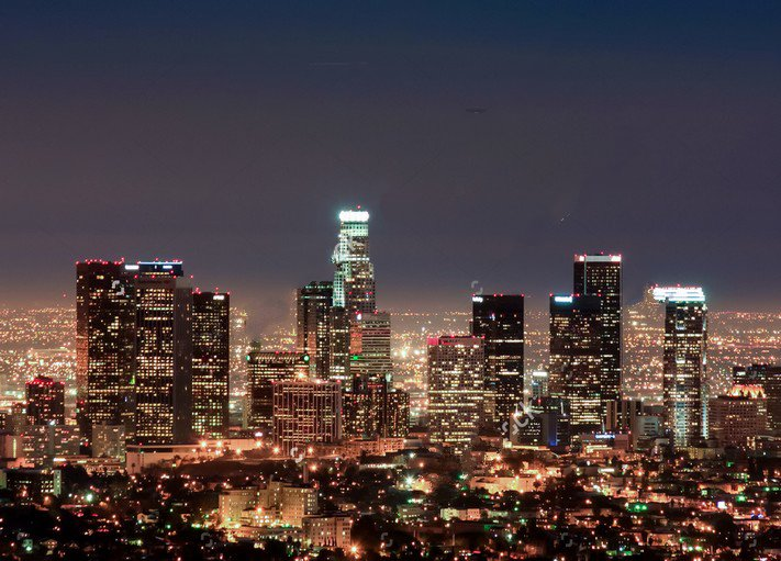 Free Computer Wallpaper Backgrounds For Fall Los Angeles City Night Skyline Backdrop Vinyl Cloth High