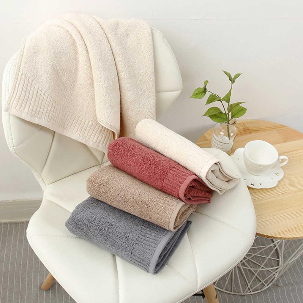 Couleur unie coton visage serviettes adultes enfants Super absorbant épais bain douche maison salle de bain hôtel serviette
