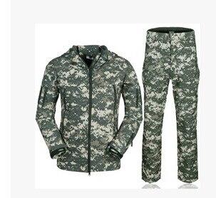 ФОТО Men's Jackets tad sharkskin suit coat jacket waterproof windproof men military uniform and pants