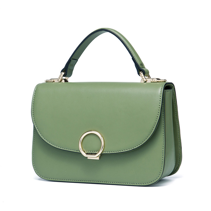 Brand Fashion Genuine Leather Women Bag Designer Handbags Small Crossbody Messenger Bags Female Simple Tote Ring Shoulder Bags bucket bags women genuine leather handbags female new wave wild messenger bag casual simple fashion leather shoulder bags