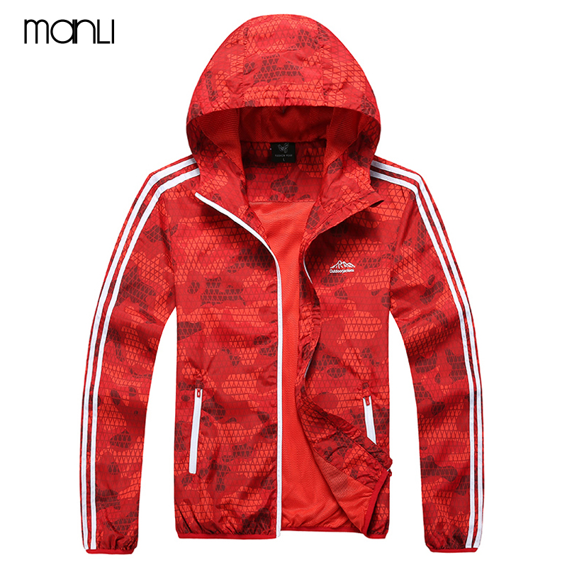MANLI Outdoor Breathable Ultra-light Cycling Jacket Camping Clothing Quick Dry Hiking Jacket Sun & UV Protection Coat Sport Skin