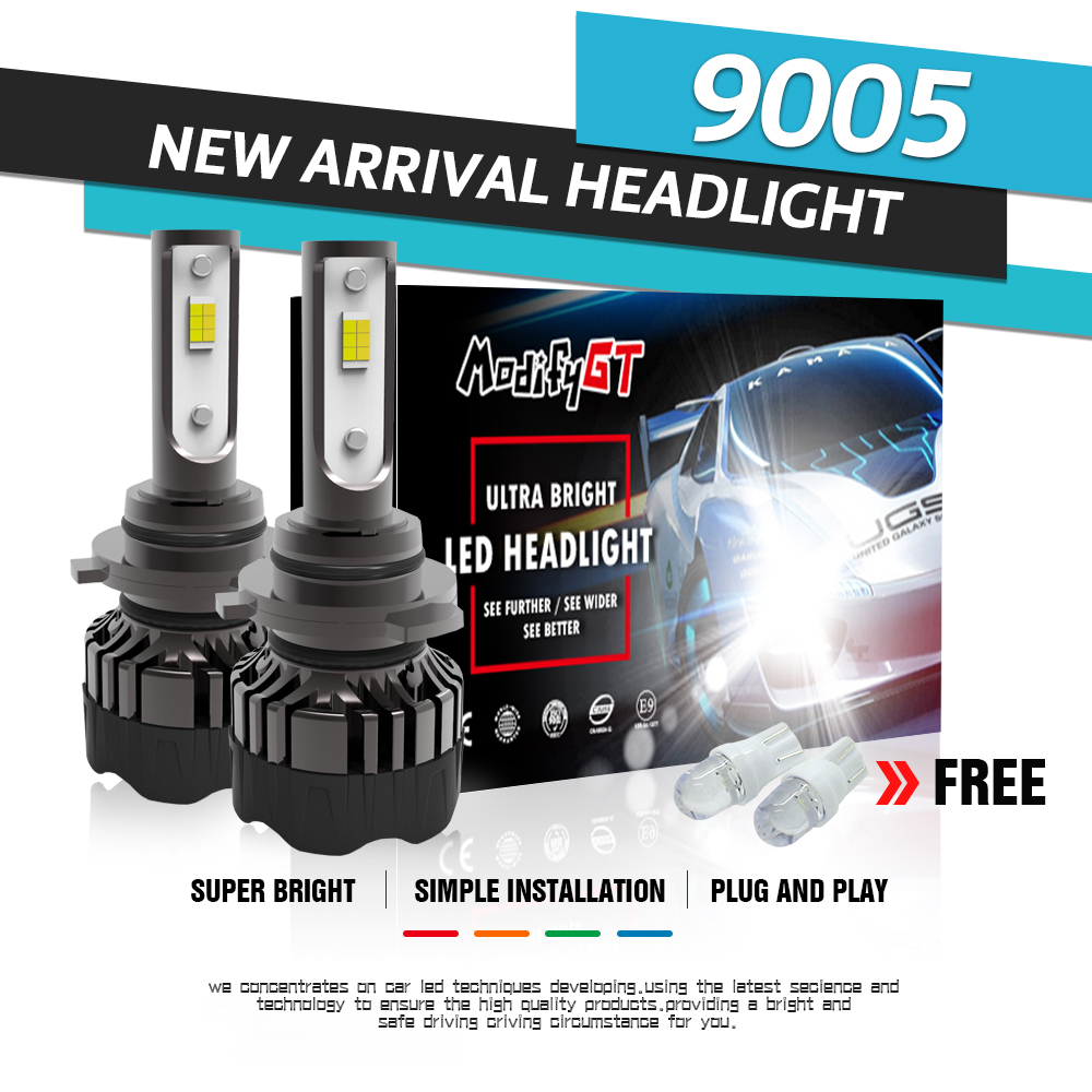 Modifygt 3 color changing 5 modes H4 led H7 led H8 H9 H11 9005 9006 Headlight 3000K 4300K 6000K 50W 12V 24V car styling in Car Headlight Bulbs LED from Automobiles Motorcycles