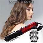 3 In 1 Hair Curling Straightening Comb Brush Hair Dryer Straighter Curler Volumizer Rotating Hot Air Paddle Hair Styling Brush