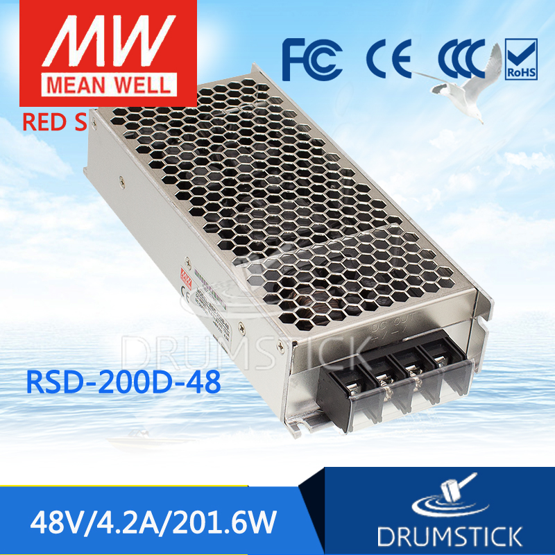 Selling Hot MEAN WELL original RSD-200D-48 48V 4.2A meanwell RSD-200 48V 200.4W Railway Single Output DC-DC Converter