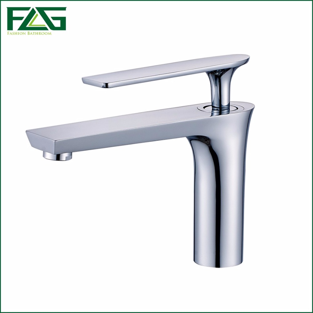 ФОТО FLG Modern Washbasin Design Bathroom Faucet Mixer Waterfall Hot And Cold Chrome/Black Water Taps For Basin Of Bathroom 254-11