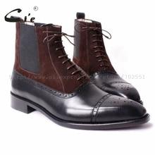 Cie/ ; ботинки с перфорацией типа «броги» на шнуровке из телячьей кожи ручной работы на заказ; цвет коричневый, черный; A65