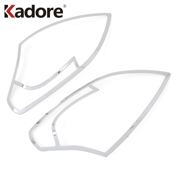 Chrome front Front Head light Lamp Cover 2pcs For Reault Koleos 2008 2009 2010