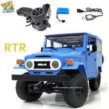 WPL C34 RTR FJ40 dört tekerlekten çekiş RC araba tırmanma Off road 2.4G oransal uzaktan kumanda araba DIY yükseltme modifiye Model oyuncak
