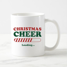 Geek Funny Christmas Cheer Loading Coffee Mug Creative Christmas Gifts Ceramic White Xmas Beer Tea Cups Mugs Home Office 11oz