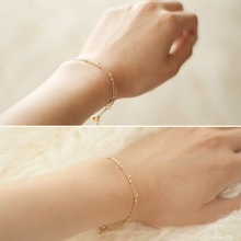 1Pc Simple Silvery/Golden Adjustable Exquisite Copper Beads