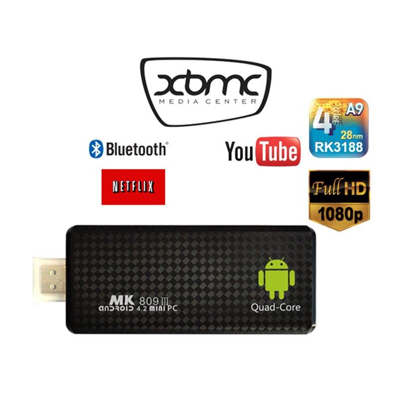 ФОТО wholesale price mk809iii smart tv android box dvb t2 receiver geniatech mygica usb tv stick t230