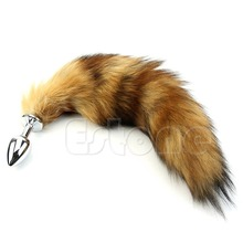 High Quality New S-LOVE Novelty Women Faux Fox Tail Alloy Chromed Butt Anal Plug Sexy Romance Sex Funny Adult Product Sex Toys стоимость