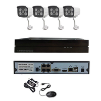 48V POE 720P HD Network IP Camera Infrared Night Vision 4CH POE NVR Security Monitoring CCTV