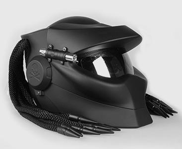 Moto casque predator predator casque rétro casque croix frontière détonation