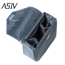 Proteção à prova d' água Saco de Nylon Dobrável Interior Acolchoado Forro À Prova de Choque Caso Capa de Viagem para Canon Nikon Sony DSLR Camera