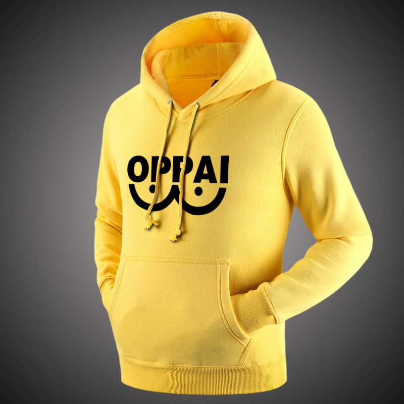 Anime ONE Oppai Hoodies Autumn Winter Hoodie Men Women Fleece Jacket Harajuku Sweatshirts One Punch Man Hoodies