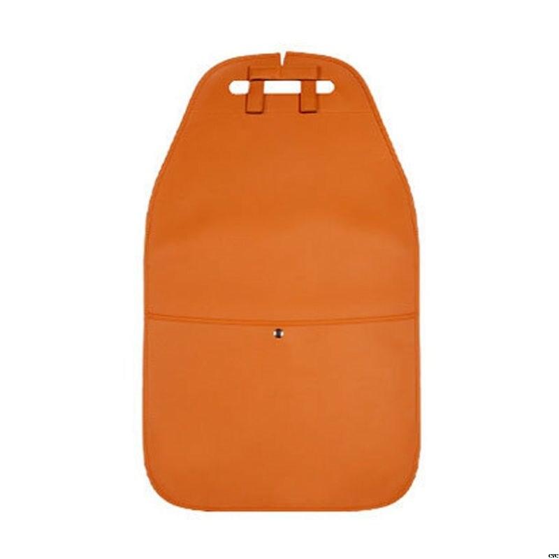 Чехол на заднюю панель автомобильного сиденья с карманом для хранения, органайзер, чехол на заднее сиденье, анти-кик, коврики, износостойкие, для заднего сиденья автомобиля, защита доступа - Цвет: Слоновая кость