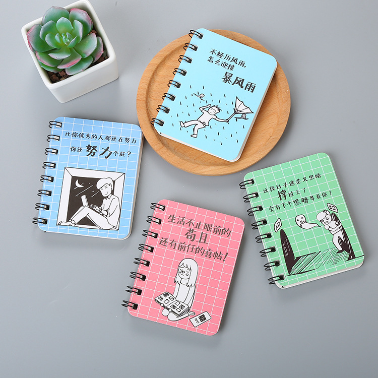1 Pcs Creative Character Rollover Coil Notebook Diary Cute Portable Pocket Notebook