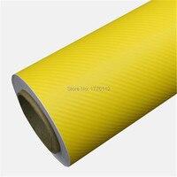 Оптовая продажа красный 3D углеродного волокна виниловой пленки с выпуска воздуха автомобиля Обёрточная бумага ping бампер/крыша Обёрточная