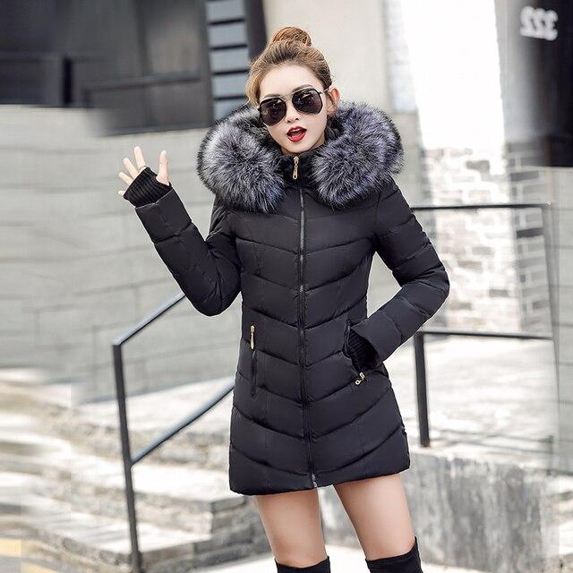 chaqueta mujer Women Down Jacket New 2018 Winter Jacket Women Thick Snow Wear Winter Coat Lady Clothing Female Jackets Parkas  1