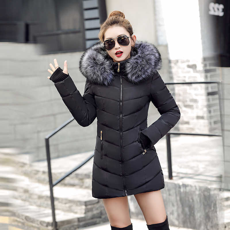 8bf089f0e87 ... Chaqueta de mujer mujeres chaqueta 2019 nueva chaqueta de invierno de nieve  gruesa ropa de abrigo ...