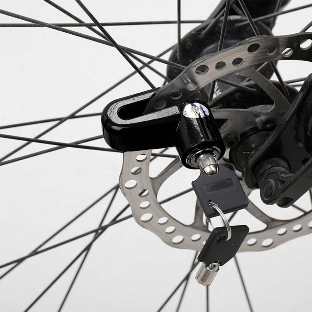 2 Pcs Bergaya Tahan Lama Skuter Bersepeda Keselamatan Anti-Theft Disk Disc Sepeda Motor Rem Rotor Kunci Besar untuk Luar Ruangan