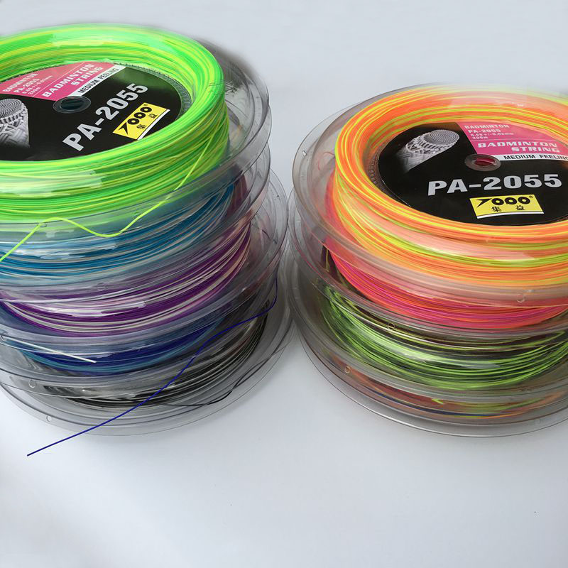 Free Shipping 1reel/lot Rainbow Badminton String Reel 200M