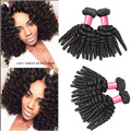 Big Discount Peruvian Virgin Bouncy Curly Hair 7A Natural Color Peruvian Bouncy Curly Hair Weaves 3Pcs Lot No Shedding/ Tangle