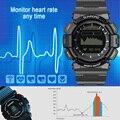 Sunroad sem fio bluetooth smart watch heart rate monitor de sono sports digital relógios de fitness rastreador para android para ios