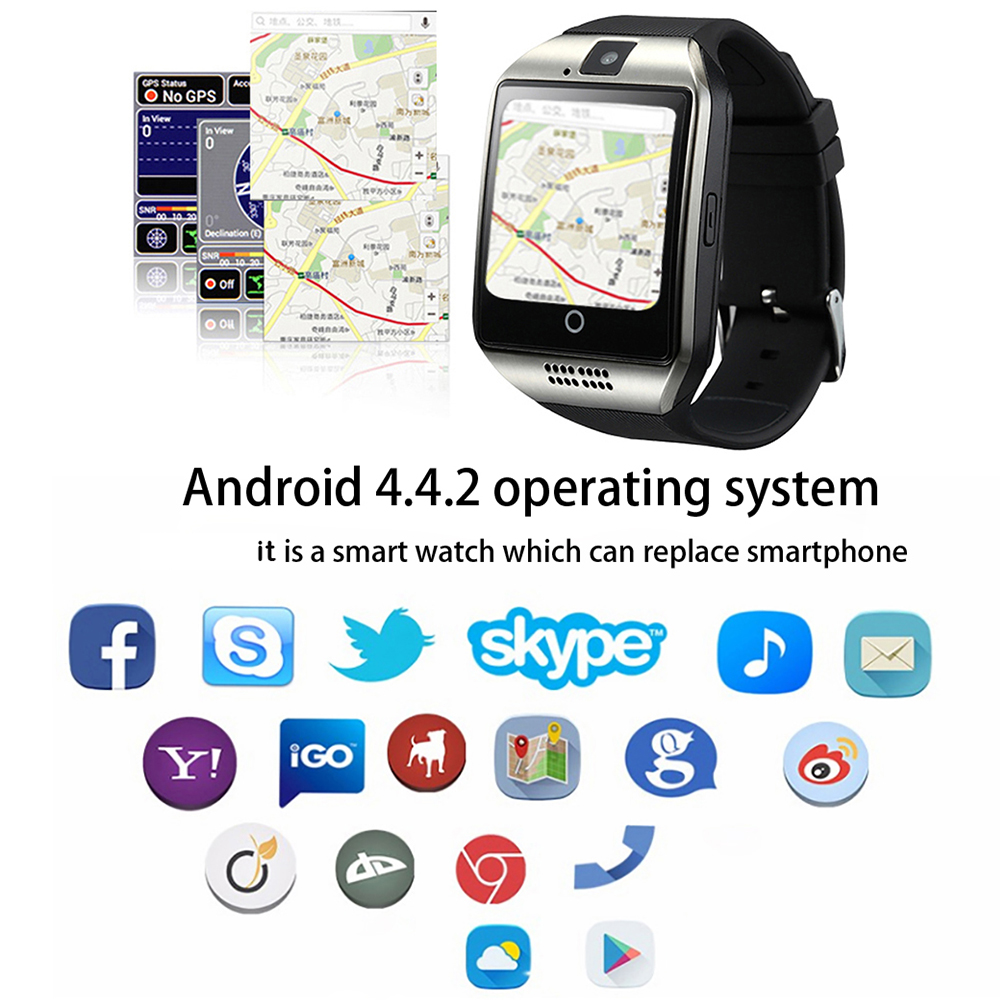 Smart Watch Smartwatch Android Clock Q18 Plus Support SIM