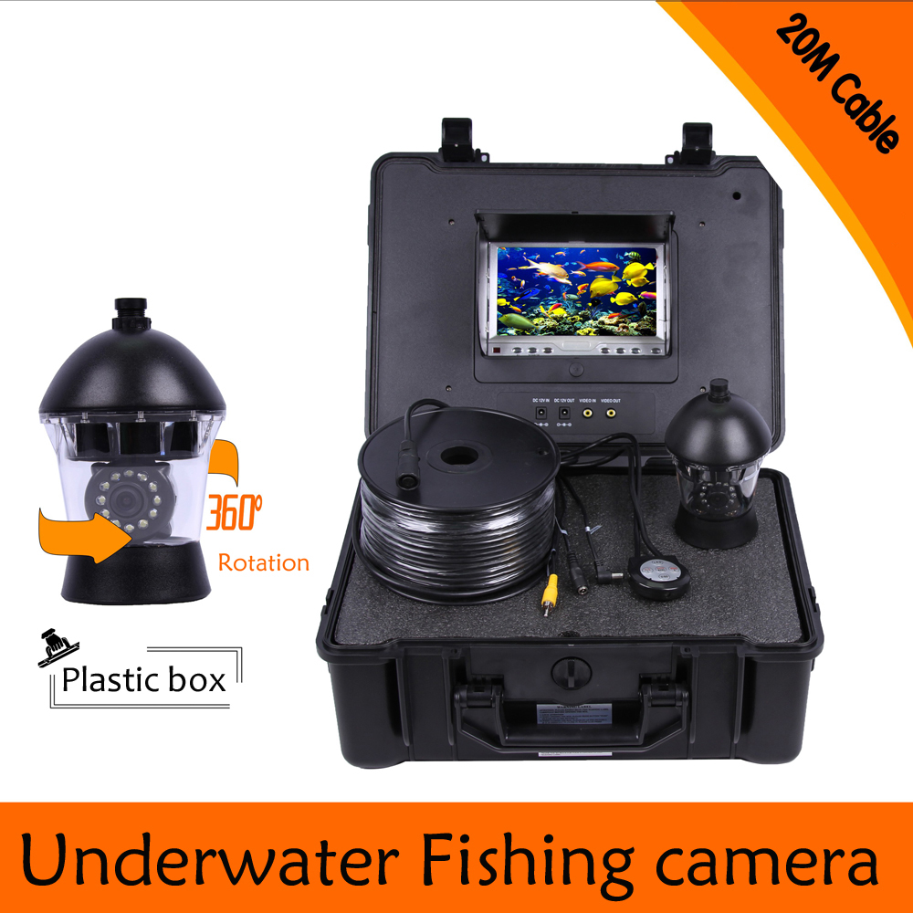 (1 Set) 20M Cable 360 Degree Rotative camera with 7inch TFT-LCD Display and HD 1000 TVL line Underwater Fishing Camera system 1 set 50m cable 360 degree rotative camera with 7inch tft lcd display and hd 1000 tvl line underwater fishing camera system