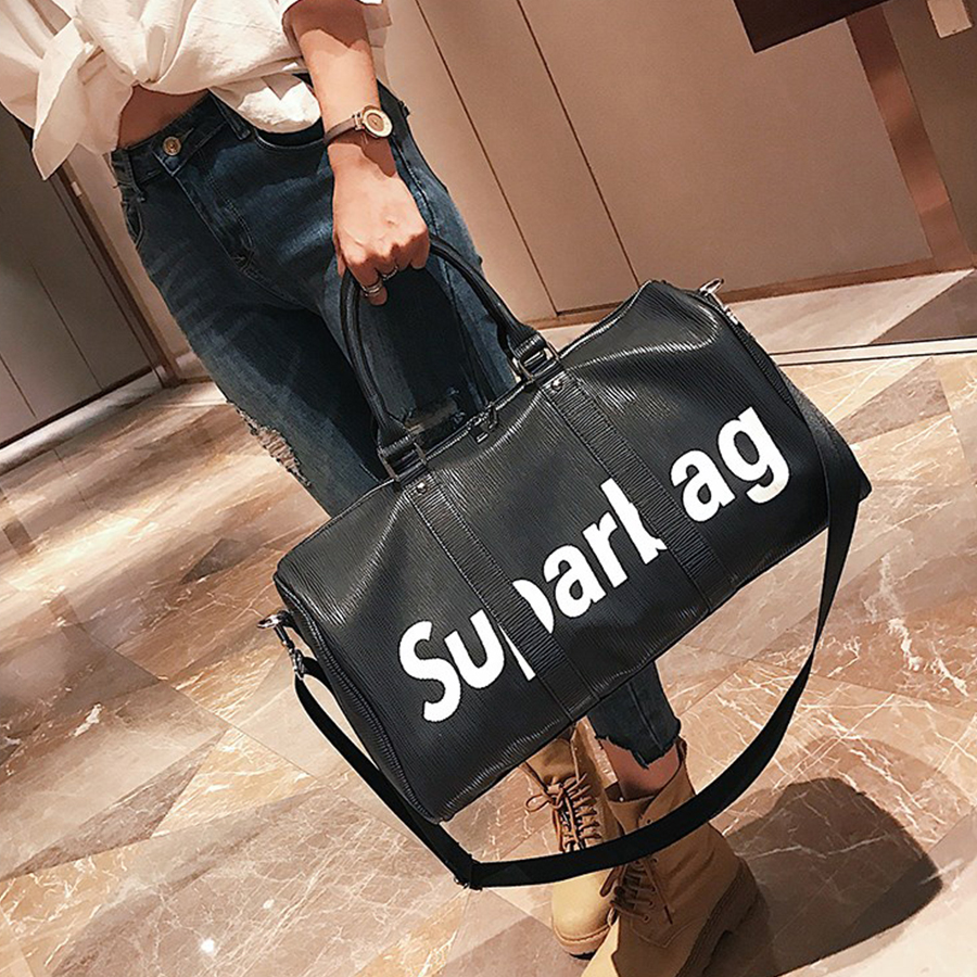2017 Designer Letter Shoulder Bag Women High Capacity Handbags Ladies Black Casual Tote Large Messenger Bags Female Travel Bolsa designer black shoulder bags women leather handbags ladies cross body bags large capacity ladies shopping bag bolsa