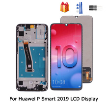 Original For Huawei P Smart 2019 LCD Display Touch Screen Digitizer Assembly 10 Touch Screen LCD Display Replacement With Frame skylarpu original blue lcd screen for garmin etrex touch 25 handheld gps lcd display screen with touch screen digitizer frame