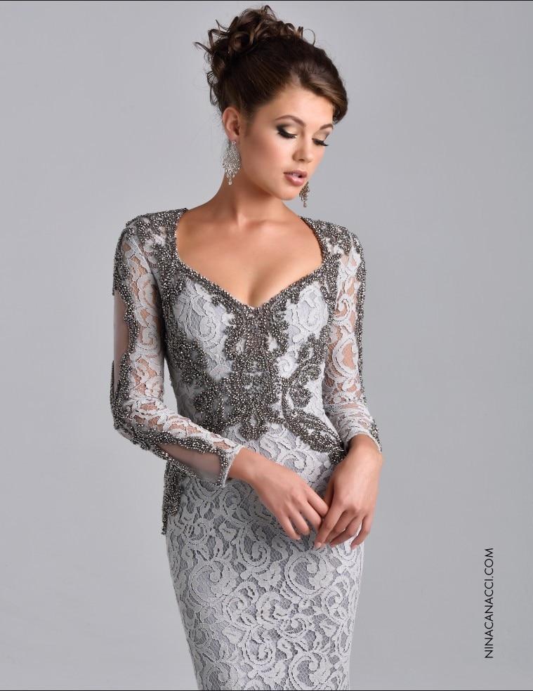 Vestidos de Noche formales de manga larga elegantes con cuentas de encaje  sirena Madre de la novia vestido de graduación Vestidos vestido de madre en  ... 926ae13ef26e