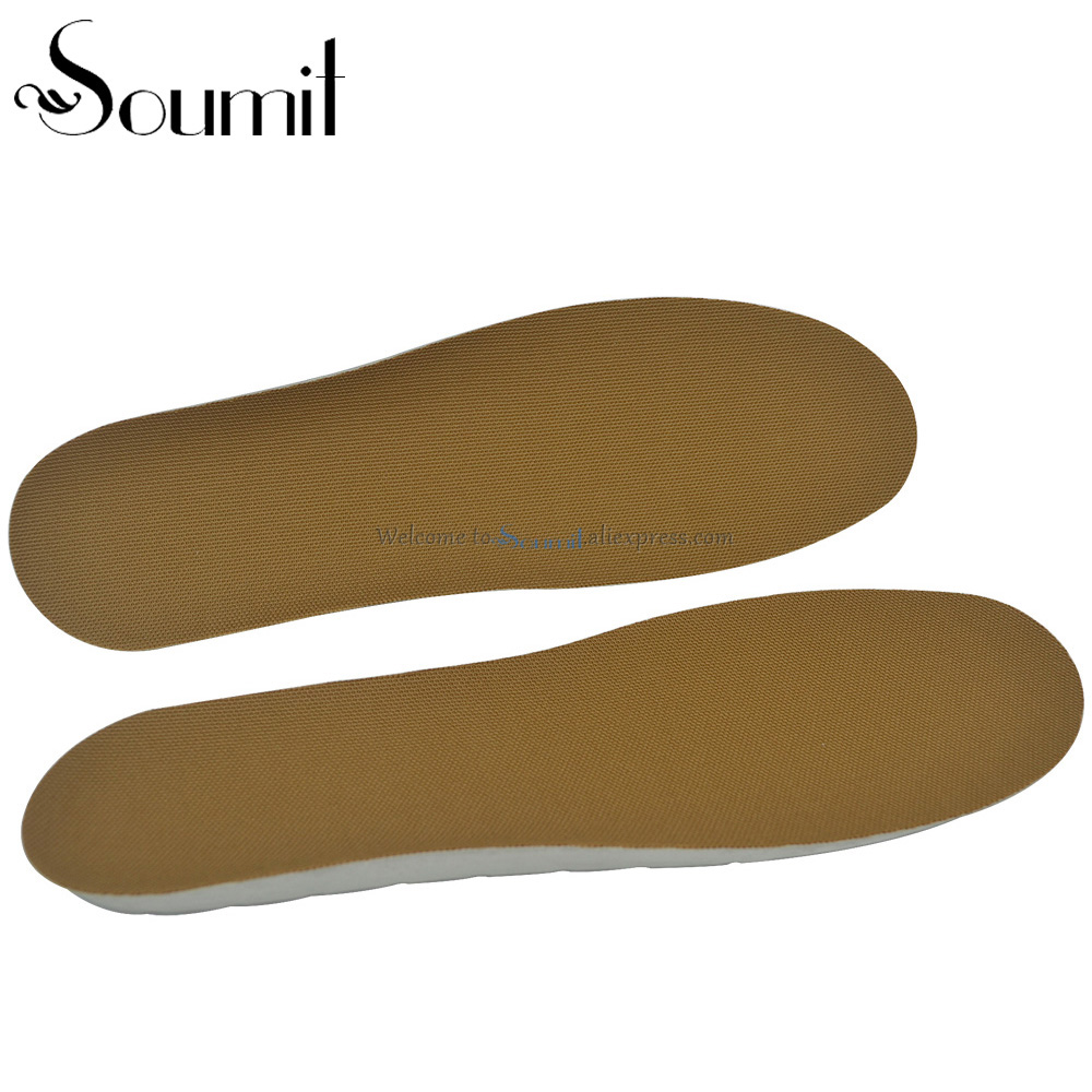 Full Length Soft Breathable Comfortable Deodorant PU Insoles for Men and Women Invisible Increase Insoles for Running Walking
