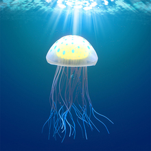 15cm Artificial Silicone Jellyfish Fluorescent Jelly Fish Tank Decoration Aquarium Landscape Accessory Ornaments