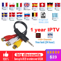 1 Year Europe French Arabic IPTV 1150 Live TV IPTV Support Android Box M3U ENIGMA2 MAG250