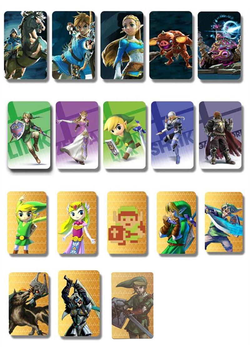 18 Pcs NTAG215 Jeu NFC Cartes Hero Données Tag 20 coeur loup Lien Pour Zelda Souffle de la sauvage NS Commutateur cadeaux