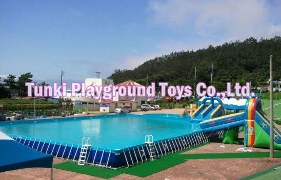 US $750.0 |Giant Above Ground PVC Frame Pools, Steel Metal Frame Swimming  Pool, Frame Pool For Sale-in Water Play Equipment from Sports & ...