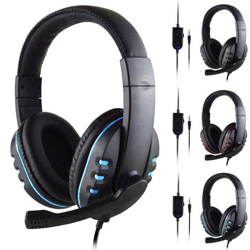 SOONHUA 3,5mm Wired Gaming Headset Tiefe Bass Spiel Kopfhörer Professionelle Computer Gamer Kopfhörer Mit HD Mikrofon für Computer