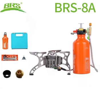 BRS-8A Moutain Camping Stove oil/gas Multi-Use Portable Split-Type Backpacking Stove 530ml Oil Bottle for Outdoor Cooking Picnic brs 12 field gasoline stove