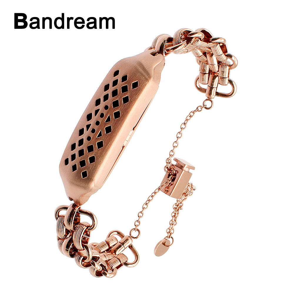 Stainless Steel Watchband Jewelry Bangle for Fitbit Flex 2
