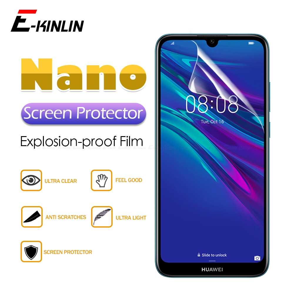 HD Clear Screen Protector Display Soft Nano Anti Explosion Protective Film For HuaWei Y9 Y7 Y6 Y5 Prime 2018 2019