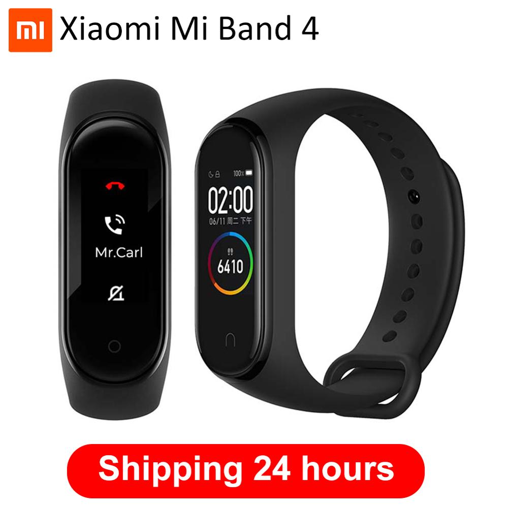Original 2019 Newest Xiaomi Mi Band 4 Smart Miband 4 Bracelet Heart Rate Fitness Tracker 135mAh