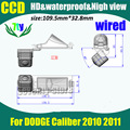 Ccd HD de coches parking cámara de visión trasera para DODGE Caliber 2010 2011 cámara de reserva 170 grados