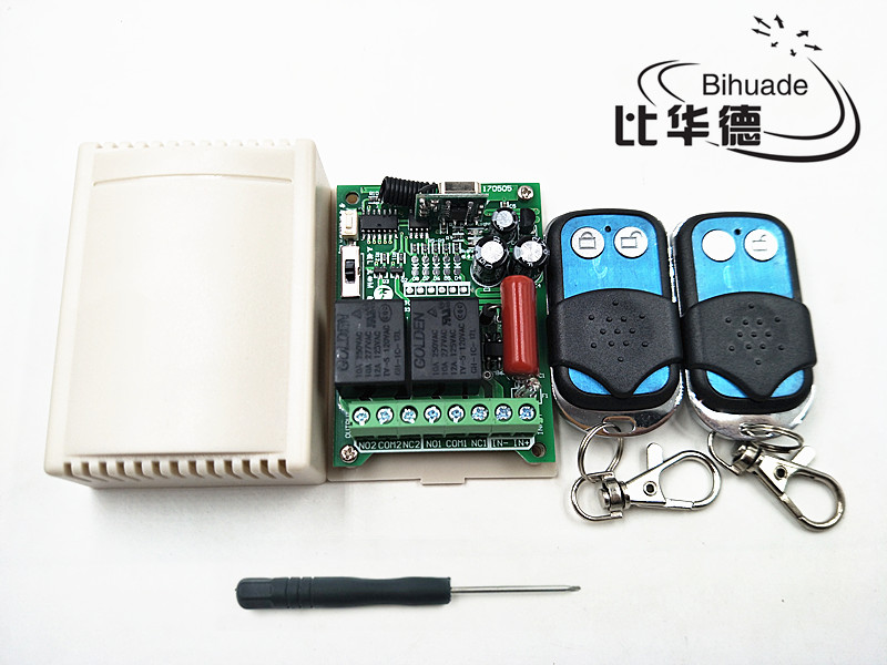 2 channel rf wireless remote control relay switch 220V 315mhz Relay Module Learning Code ...
