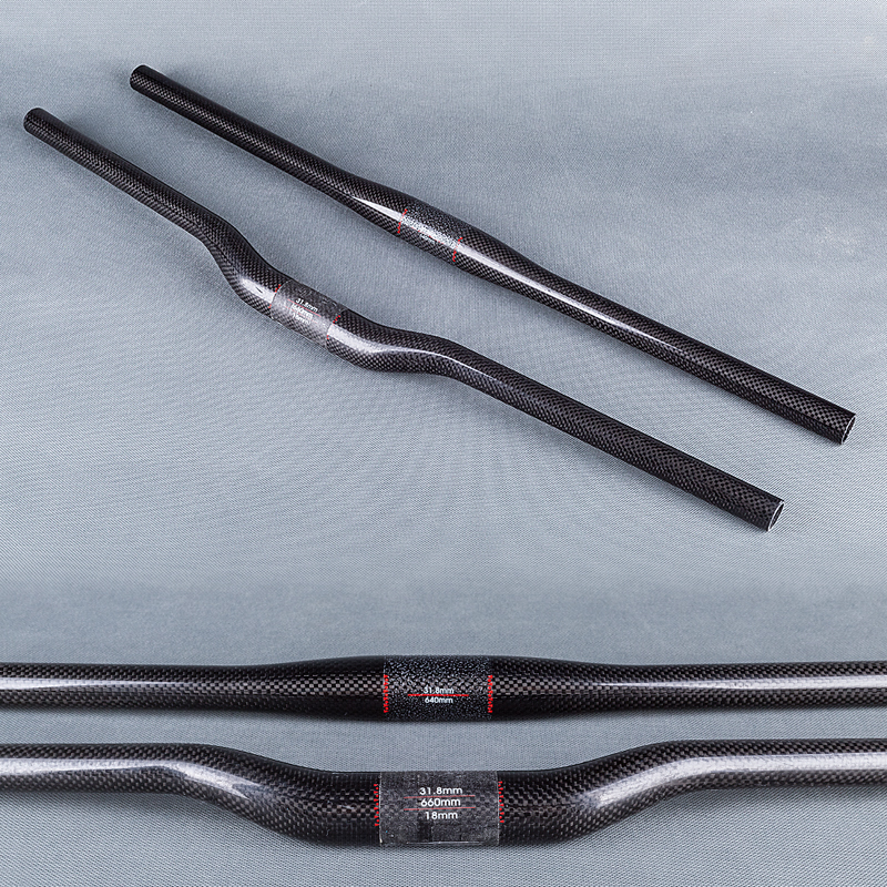 Glossy Full 3K Carbon Fiber Bicycle MTB Handlebar Mountain Bike Parts 31.8mm 600/620/640/660/680/700/720/740/760mm