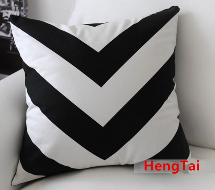 White Black Zigzag Stripe Modern Art Decorative Pillow Case Cushion Cover 2018 direct selling springs swimming clothes bikini three pieces of small breasts the steel sexy shading thin korean swimsuit