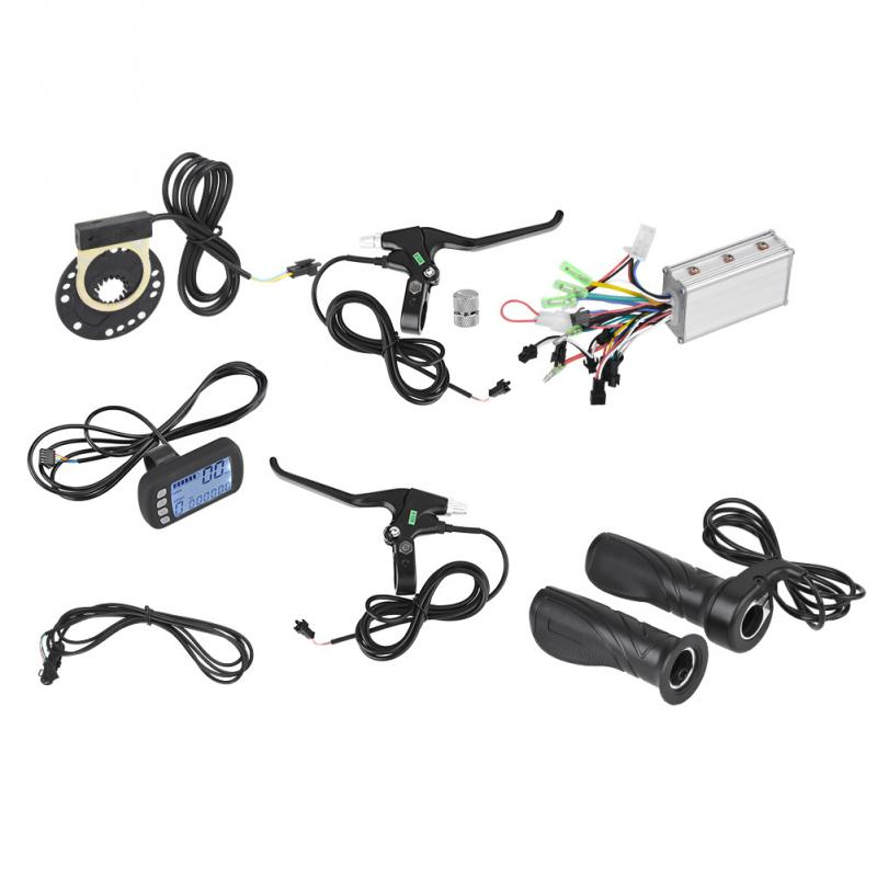 Electric Bike Controller LCD Panel Kit 24V 36V 250W 350W E bike Brushless Controller Set with