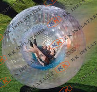 Portable inflatable zorb ball